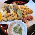 鯛の白子の天ぷら&赤甘鯛の鱗揚げ・塩締め