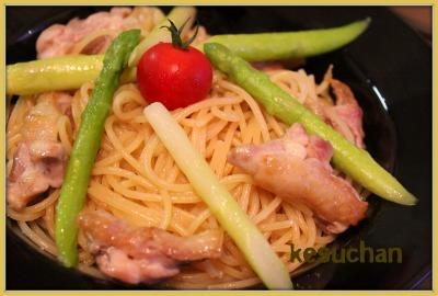 ☆ 鶏とゆず胡椒のパスタ ☆