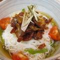 豚の甘辛のせ素麺