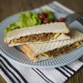 お惣菜|アレンジ|お手軽|おかずパン|朝ごはん|おやつ|お弁当|【和風ホットサンド:キンピラごぼうのりチーズ】
