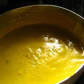 かぼちゃの煮つけがスープに