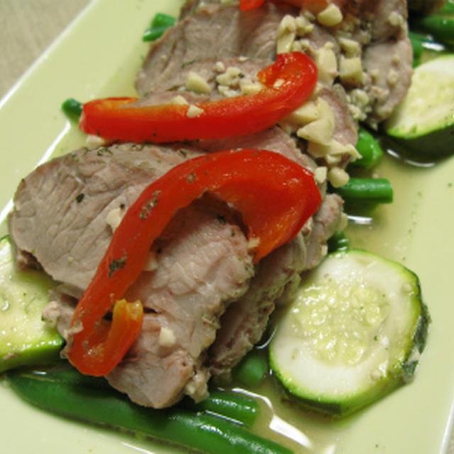 豚もも肉のイタリアンハーブ蒸し焼き(レシピ)