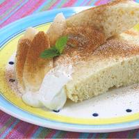 レンジで簡単!ふんわりヨーグルトクリームのホワイト蒸しパン。