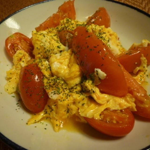 トマトと卵のナンプラー炒め