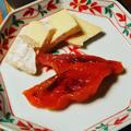 きのうのおつまみ  あんぽ柿&チーズ