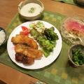 鱈&帆立フライの晩ご飯 と ピッカピカ!の『ヒメリュウキンカ』の花♪