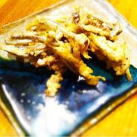 伯方の塩で天ぷら