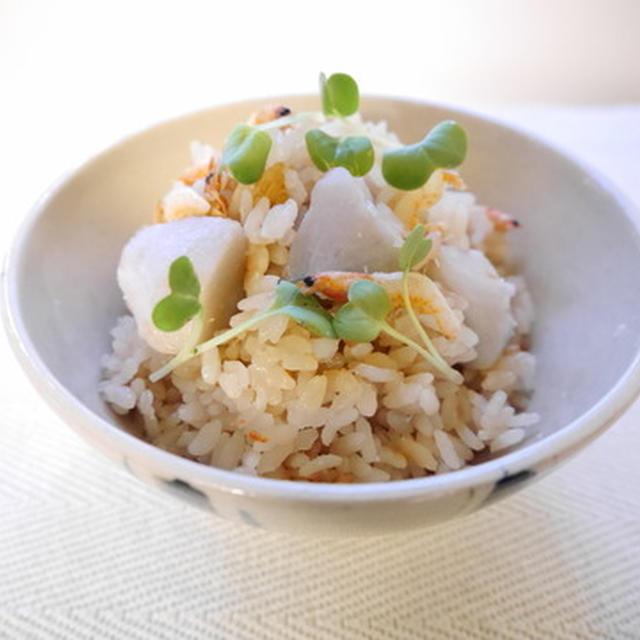 口の中でとろける~♪ 里芋と桜エビの炊き込みご飯
