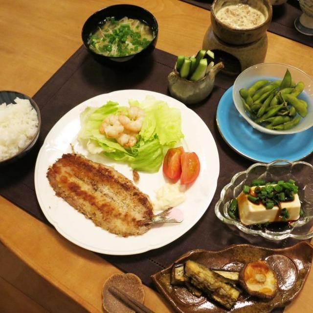 秋刀魚のパン粉焼の晩ご飯 と チャリでお出かけ♪