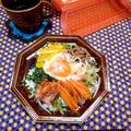 卵がとろ〜レンジで簡単野菜たっぷりビビンバ☆