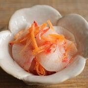 寿司酢で簡単・副菜♪大根と桜エビのなます