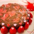バレンタインレシピ *簡単!苺のマーブルガトーショコラ* by manaさん