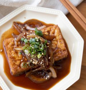 【レシピ】『厚揚げの生姜焼き』簡単。おつまみにも!