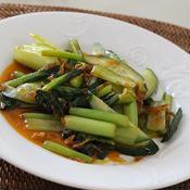 小松菜と小エビときゅうりの♪トムヤムクン風味