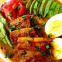 塩豚を焼いて煮込んで。豚バラのスープカレー