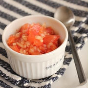 ざく切りトマトの即席サルサ