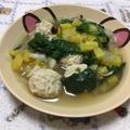 鶏団子とほうれん草の煮物