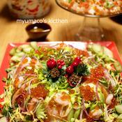 クリスマスリース風ちらし寿司