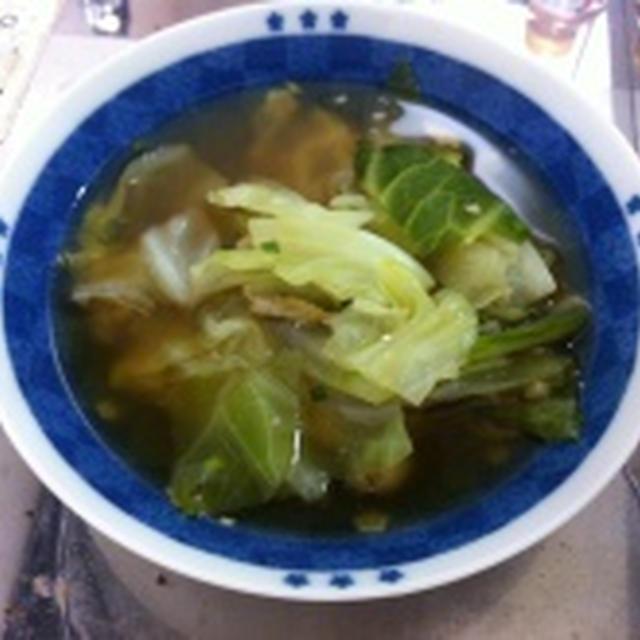 あごとキャベツのあっさり醤油スープ