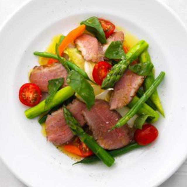 鴨の胸肉と夏野菜のサラダSALADE DE MAGRET DE CANARD,LEGUMES D'ETE