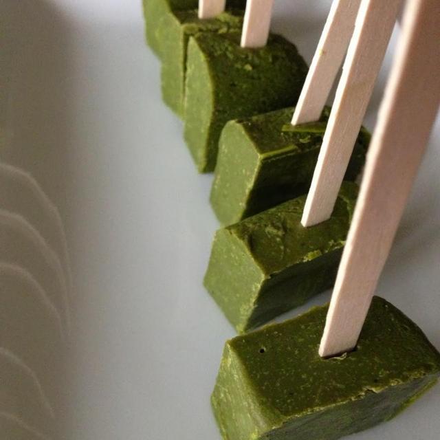 Hot Green tea Chocolate on a stick!