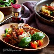 渡り蟹とトマトのスパイシー炊き込みご飯