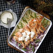 秋の味覚|鮭|ボジョレーヌーボーに合うお料理|超簡単|2ステップレシピ|ワインも、箸も止まらない♡【サーモングリルのブルサン添え】