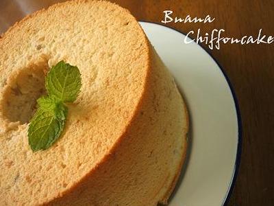 バナナシフォンケーキ*・。