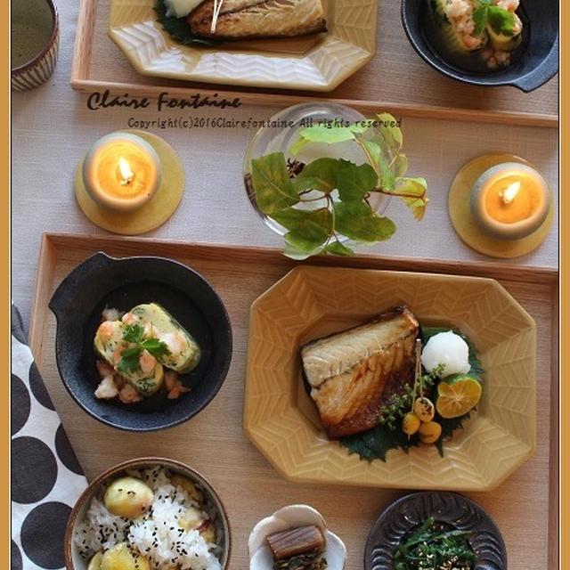 栗ごはん!と、ほっこり和食の日でした