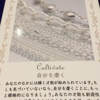 8/4(火)ラッキーカード「シルバー」自分を磨く