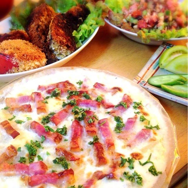 菊芋となまり節のお野菜コロッケ。菊芋とベーコンのフラン。