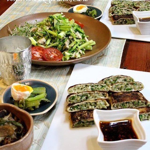 ◆自家製ツナのサラダとリベンジお揚げ餃子♪~ゆるやか糖質制限中♪