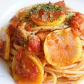 ズッキーニのトマトソースパスタ♪