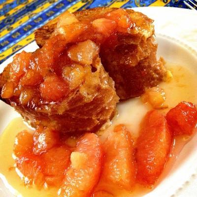 フレンチトースト                         【レシピ】クレープフルーツソース