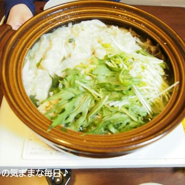 今シーズン最後?の餃子鍋と今日のお弁当☆