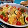 サーモンと野菜のオーブン焼き☆ローズマリー風味