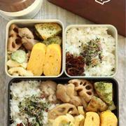 鶏と蓮根の煮物とマカロニサラダ