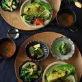 今が食べ時の、青菜多めの冬野菜膳。