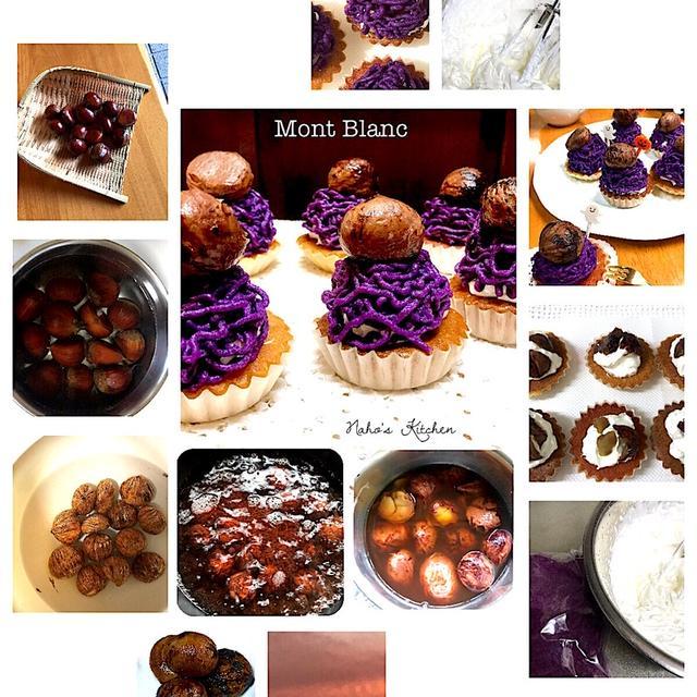 栗を頂いてから〜紫芋のモンブランに変身 #モンブラン #栗 #紫芋 #ハロウィン