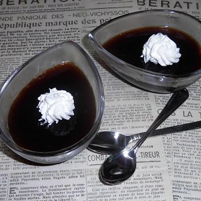 アガーでコーヒーゼリを作ってみませんか?