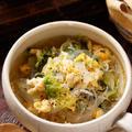 白菜とふわふわ卵の中華風春雨スープ【#茹で戻し不要 #副菜いらず #小腹対策 #夜食 #風邪をひいたときに #スープ】