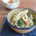 レンジで簡単◎焼き肉のたれで♪小松菜と切干大根の具沢山サラダ