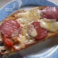 キヌアパンでピザトースト