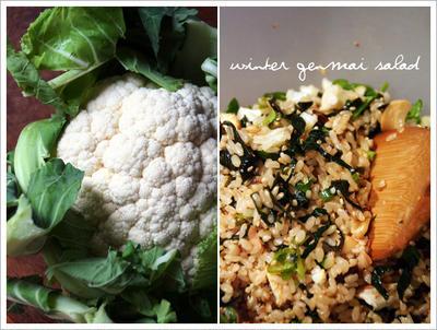 冬の玄米サラダ