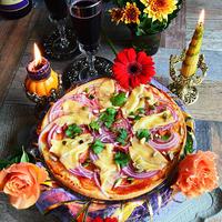 花と家バル料理をコーディネイト02 お手軽で美味しい 8分!前菜ピッツア