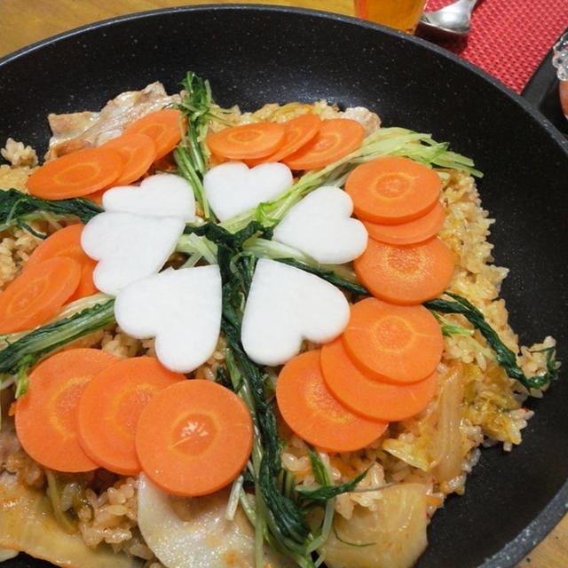パエリア風キムチご飯