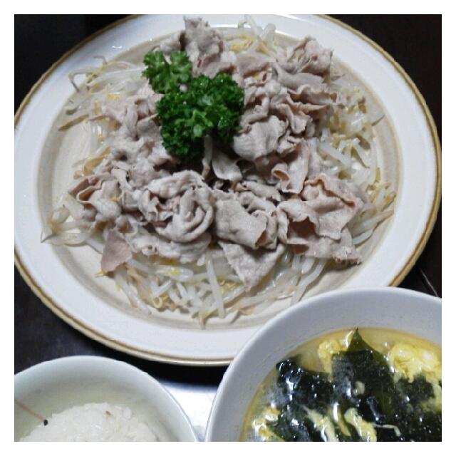 昨日の夕ご飯☆豚の冷しゃぶ