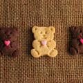 バレンタインに♪ハートの抱っこクマクッキー