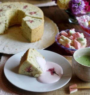 豆乳桜シフォン