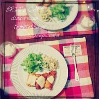 【うちごはん】ブルドックうまソースで!簡単!チーズトマトピカタ